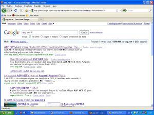 articolo asp.net 4 terzoposto su Google