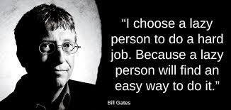 Bill Gates: persone pigre